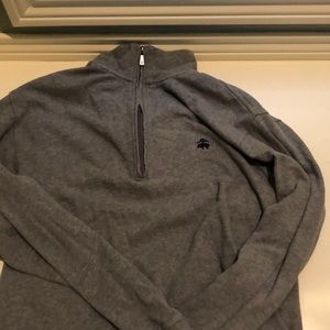brooks brothers cropped quarter zip